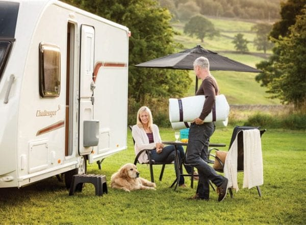 Compact Travel Topper Duvalay couple motorhome